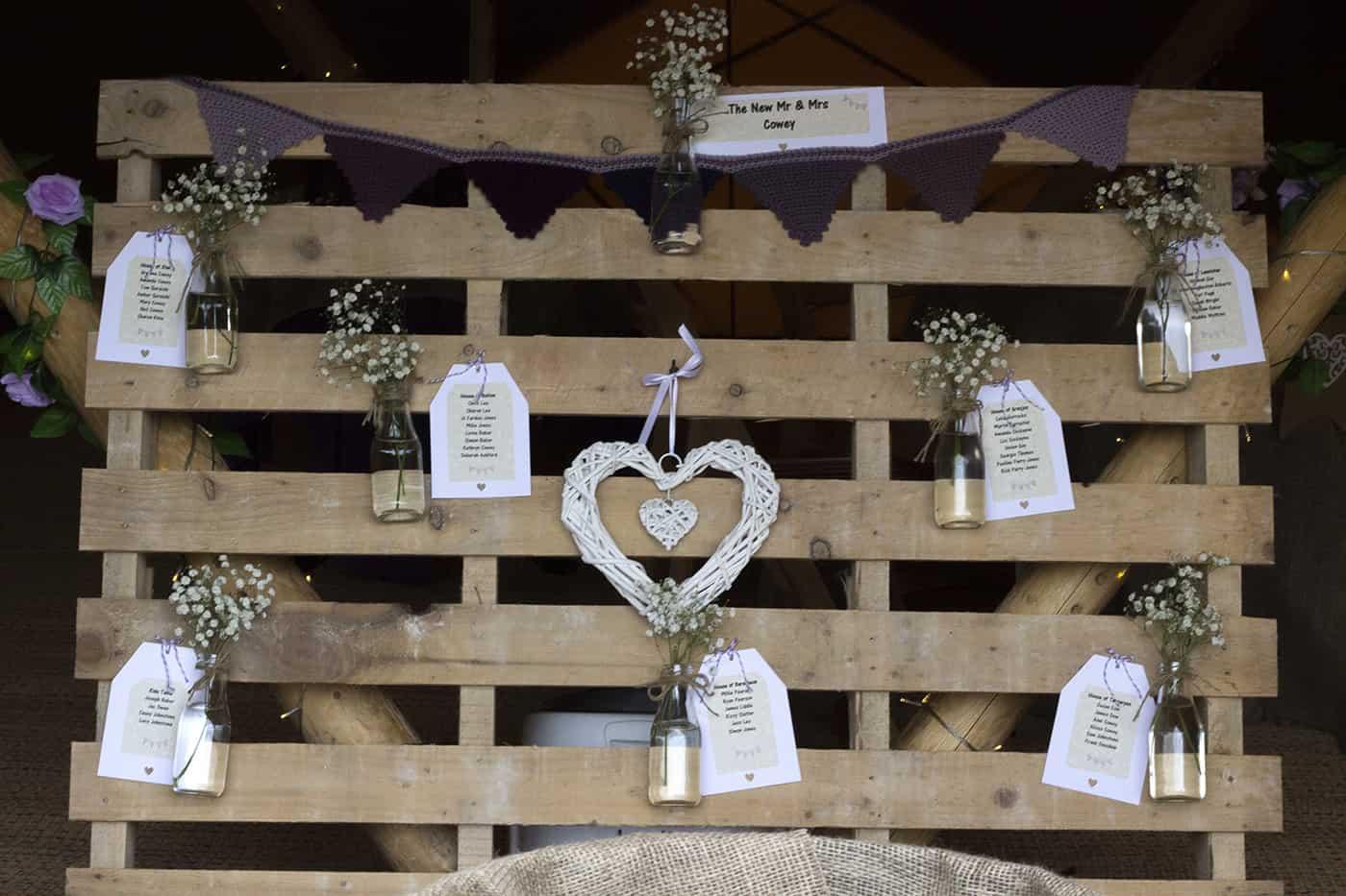 Garden wedding styling