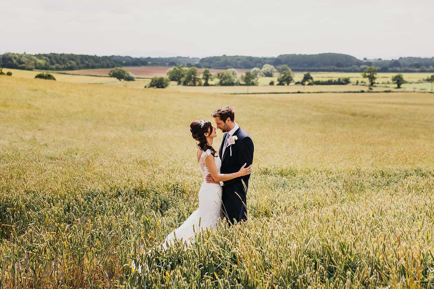Farm land tipi wedding
