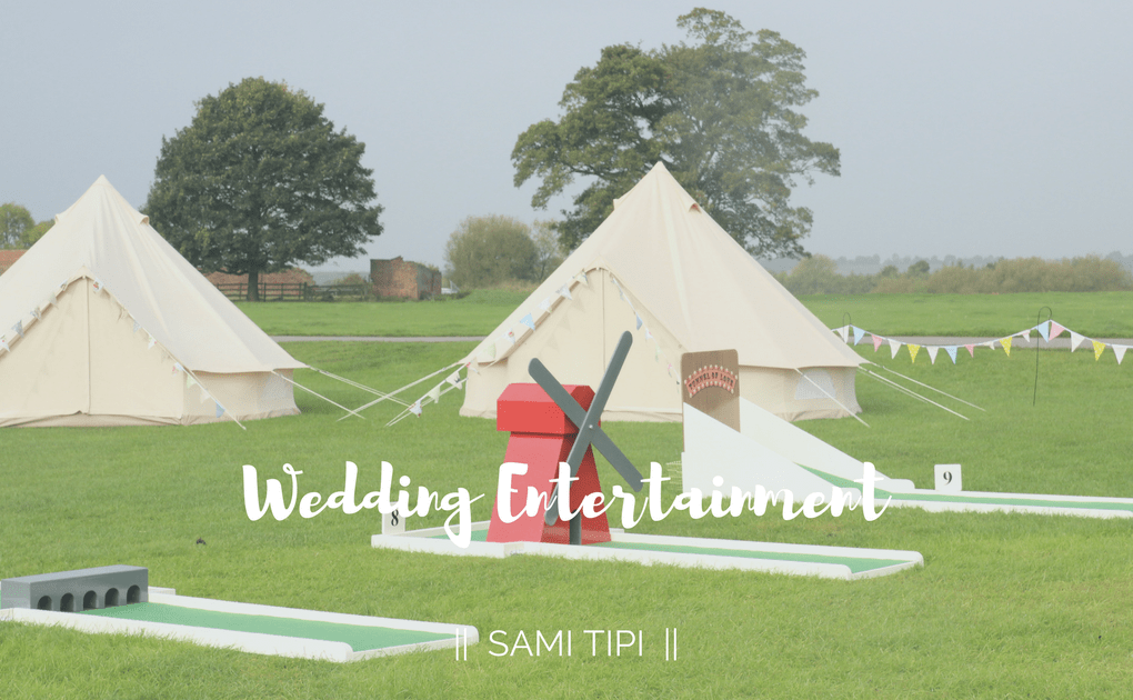 Entertainment at a Tipi Wedding