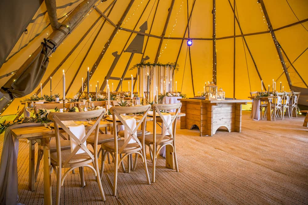 romantic and dreamy tipi styling by The rustic wedding company