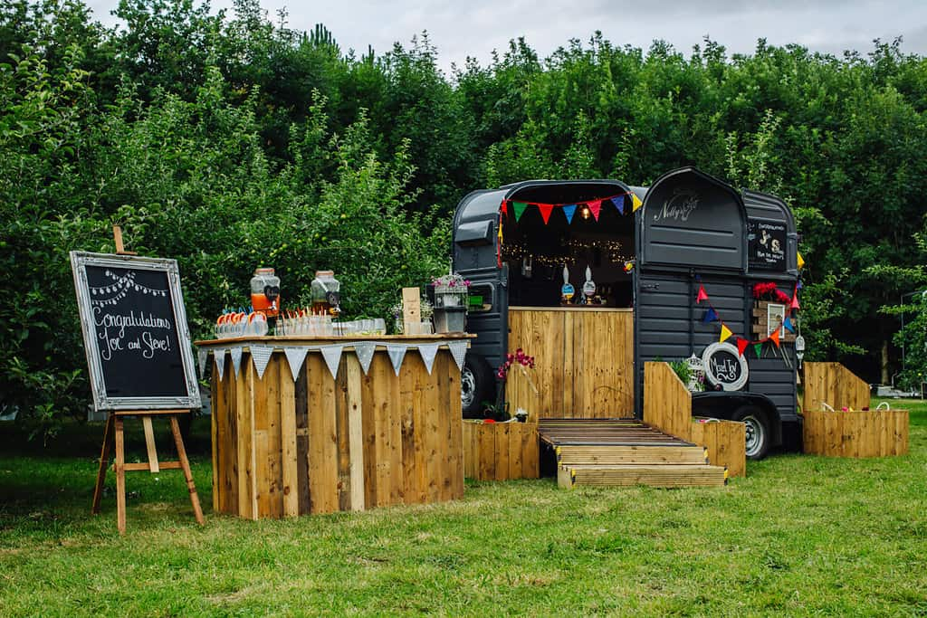 Nelly's Bar Toast Bar hire to compliment your Sami Tipi Wedding