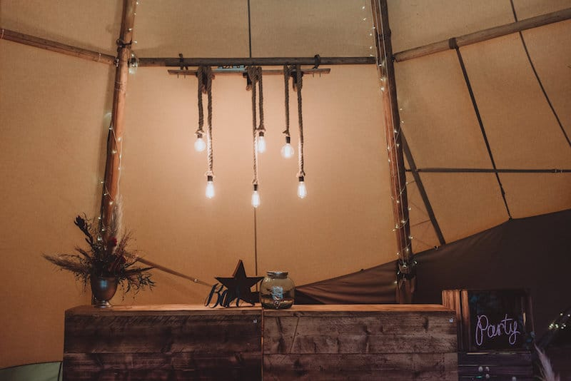 Rope Light - this works perfectly above your bar space as it looks amazing but also adds additional light for an area that also has to be functional. The rope light is a perfect win