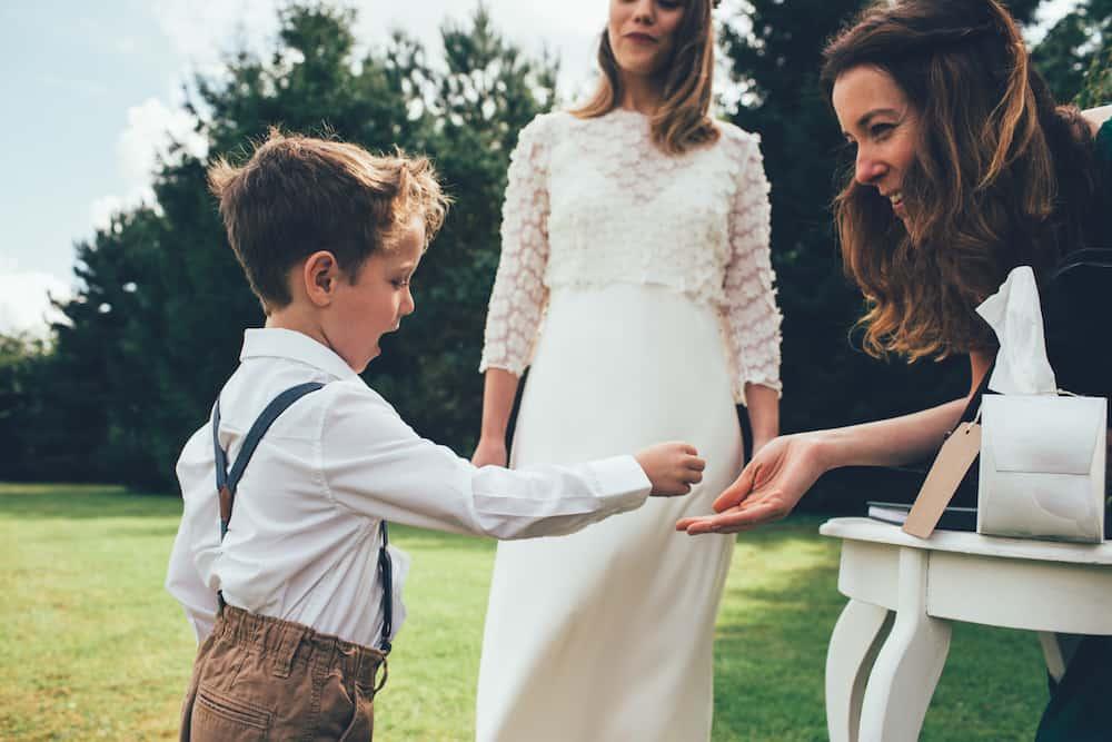 Entertaining children at weddings. Child ring bearer