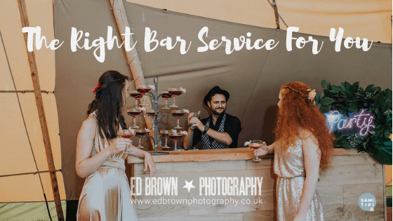 The Right Bar Service For Your Outdoor Wedding