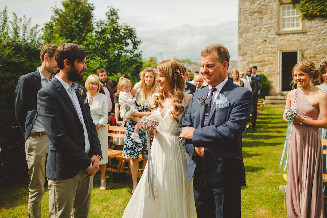 Can we get married in a field. Ellie and Tom did exactly that, with their legal ceremony done a few days before
