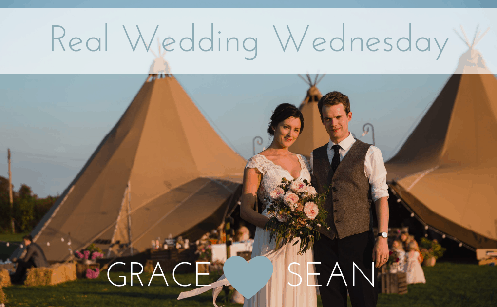 Grace and Sean's Cattows Farm Tipi Wedding