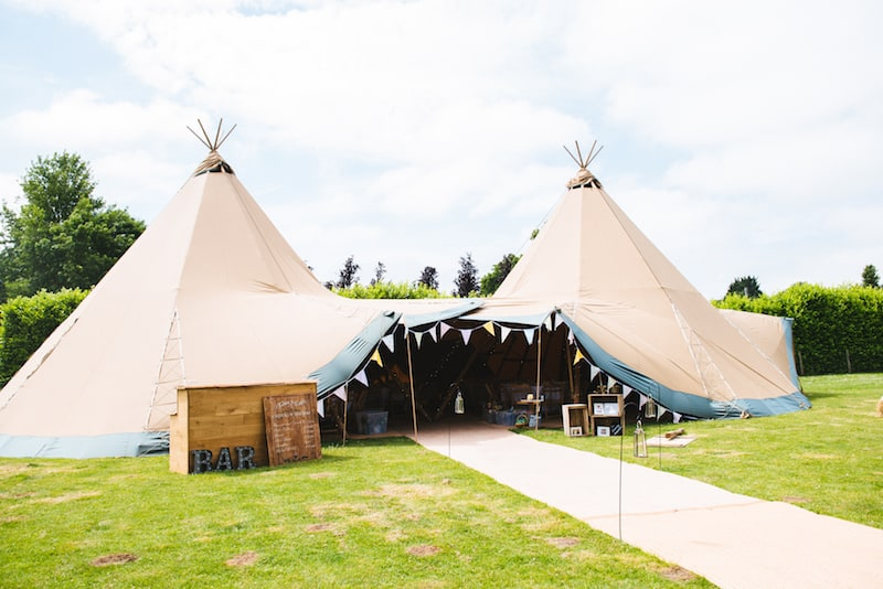 Two Giant Hat Tipis