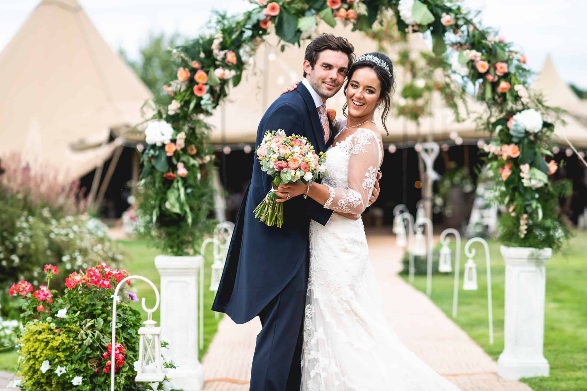 5 Giant Hat Tipi wedding in Quorn, Leicestershire