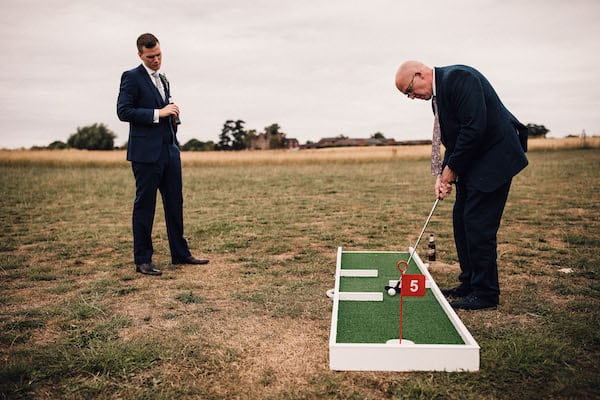 9 Hole Crazy Golf course at Cuttle Brook, Swarkestone wedding
