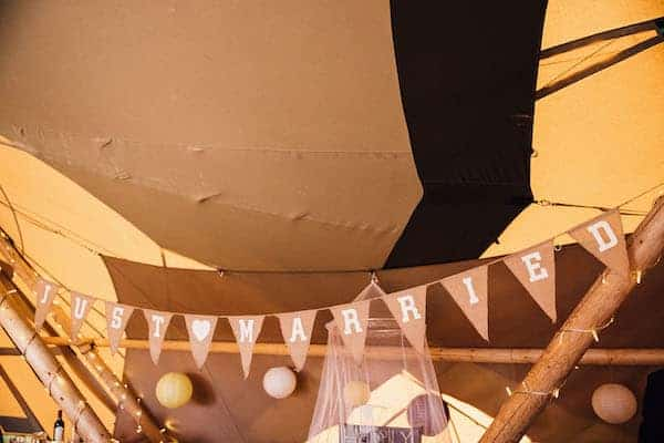 Rustic DIY wedding bunting