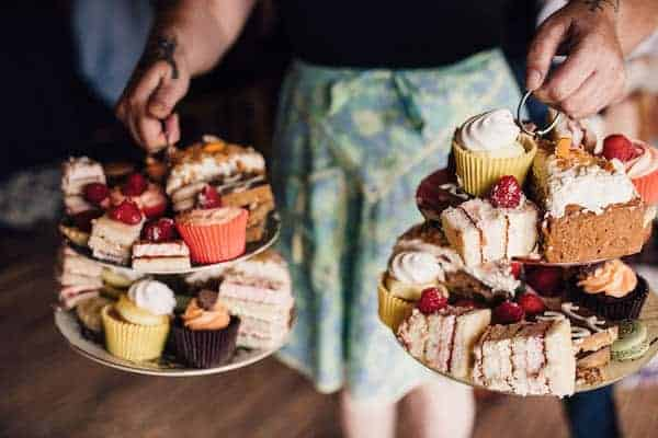 Vintage afternoon Tea wedding catering for Cuttle Brook wedding