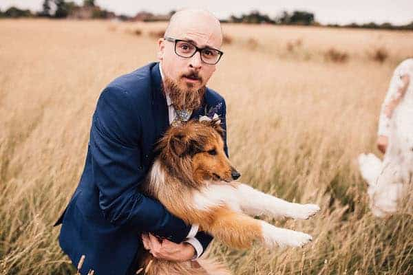 Groom with dog guest