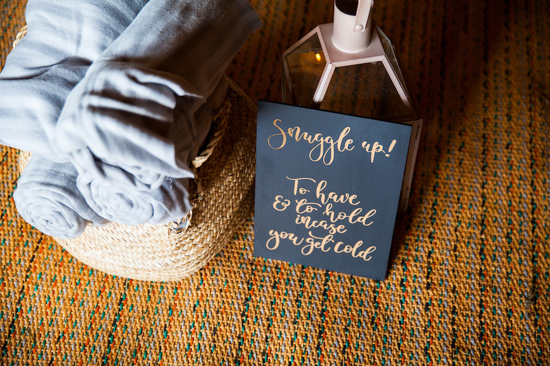 snuggle rugs for tipi wedding for when the evening chills
