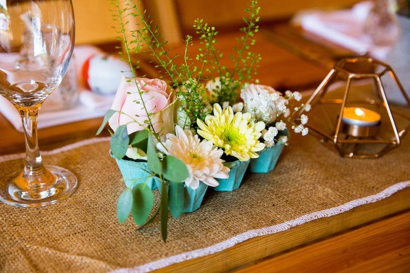 Egg Pot flowers for Easter Wedding Celebration