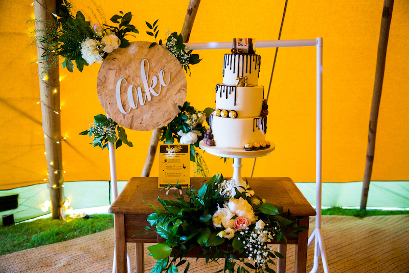 Chocolate Filled Wedding Styling