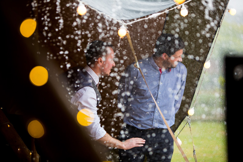 The Tipis are perfect for Rainy weather