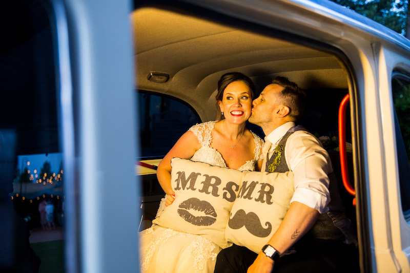 Taxi Snaps photo booths with props and cushions
