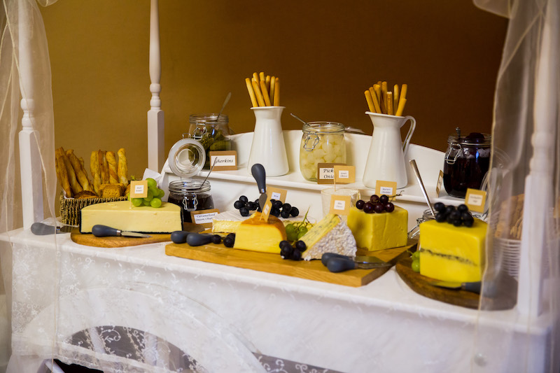 cheese board for evening catering