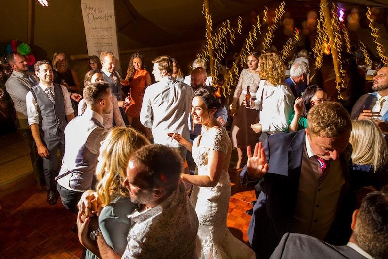 Tipi evening party at Elvaston Castle in full swing