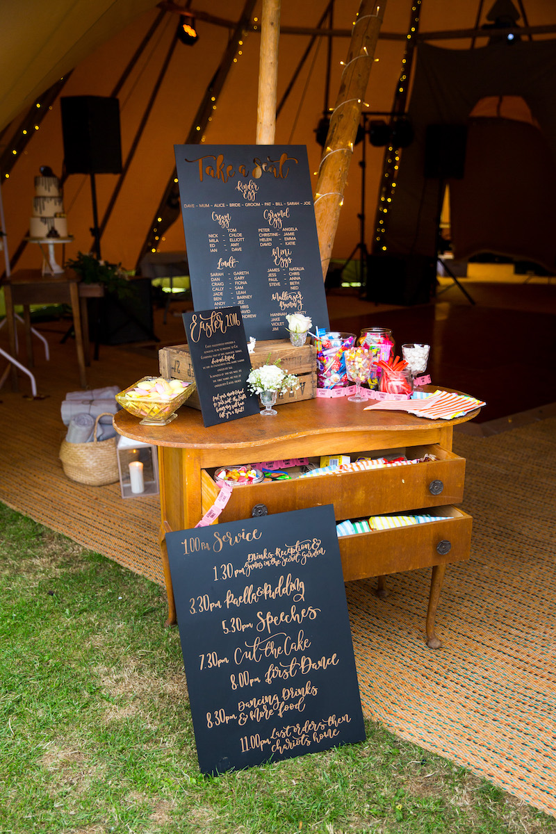 Welcome station to tipi entrance