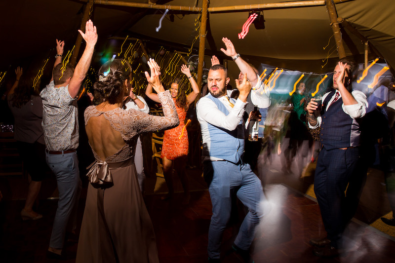 Tipi evening party at Elvaston Castle