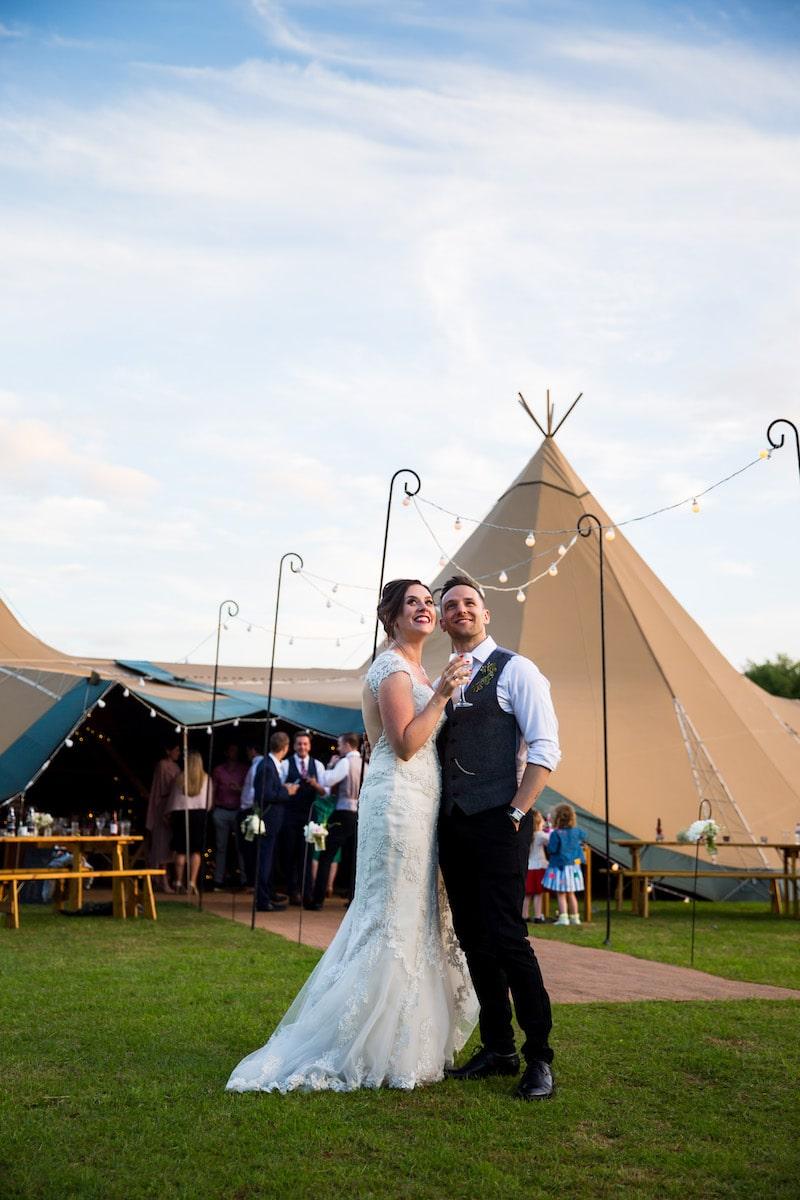 Sami Tipi wedding at The Walled Garden, Elvaston Castle