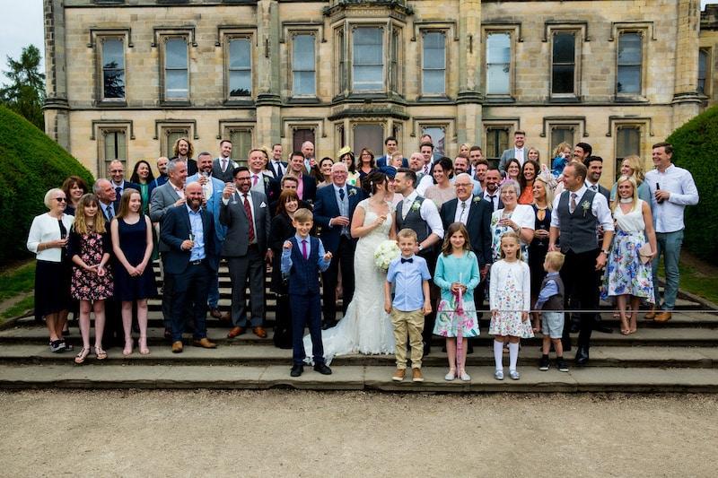 Elvaston Castle wedding ceremony followed by a Sami Tipi Wedding Celebration
