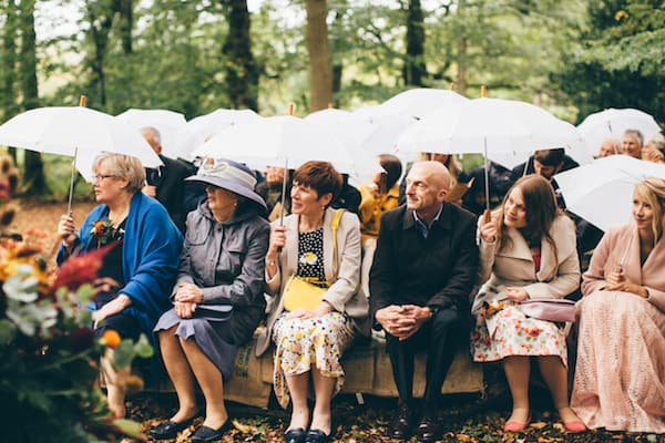 Wet outdoor ceremony at Bradgate Park