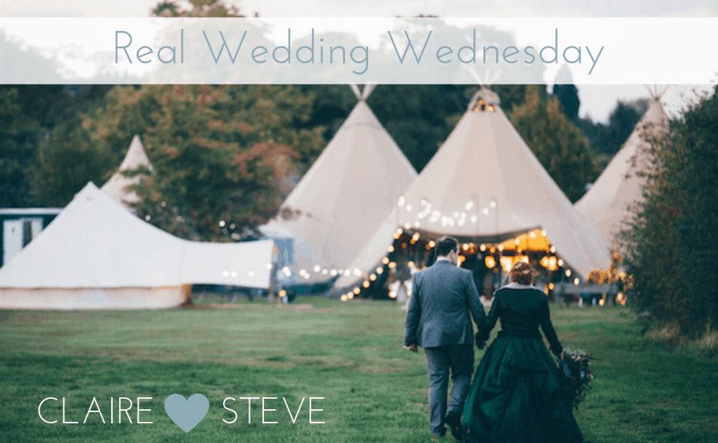 Claire & Steve's Autumn Tipi Wedding