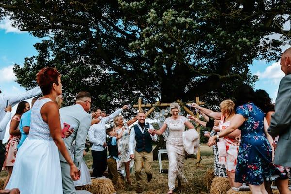Cattows Farm Wedding under the tree