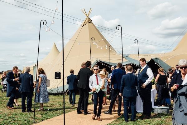 teepee wedding celebration at Cuttle Brook swarkestone, derybshire