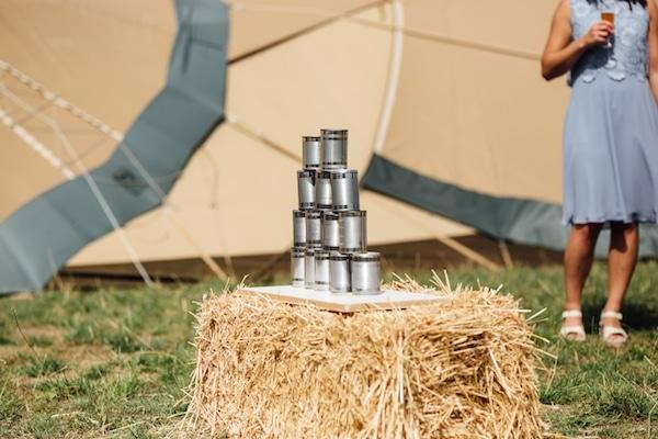 DIY Tin Can Alley | outdoor wedding Games