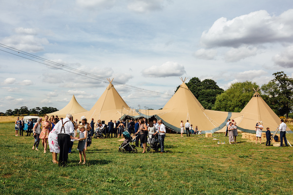Cuttle Brook Wedding with Tipis from Sami Tipi