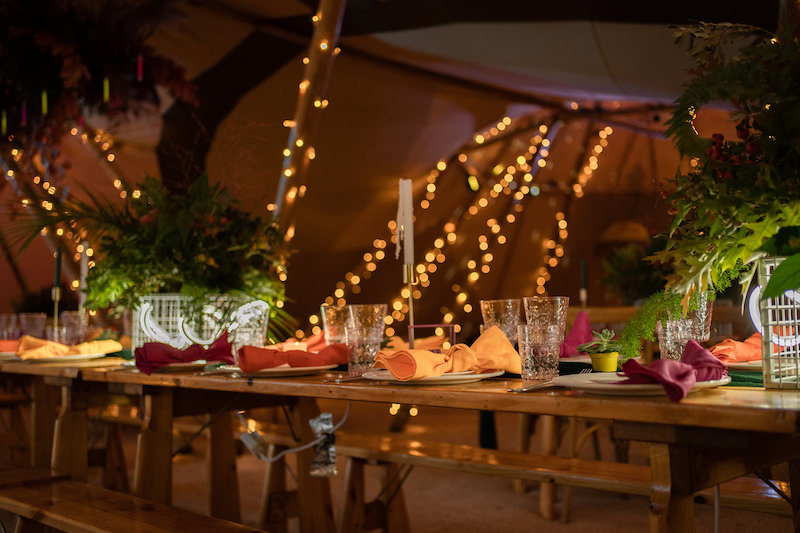 Illuminating Love with neon and bright lights for your Tipi Styling Ideas