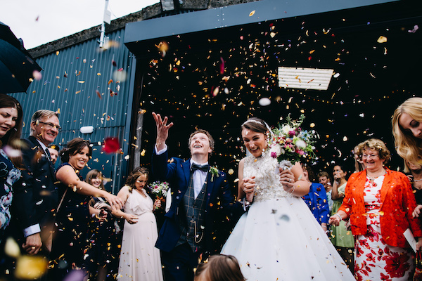 Barn Wedding Ceremony at Bawdon Lodge FArm