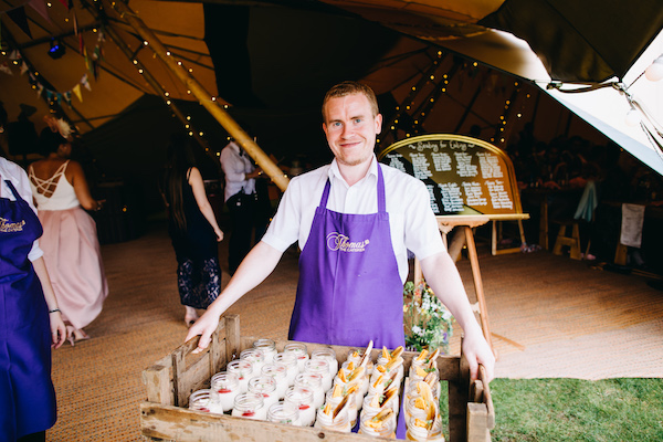 Thomas The Caterer serving relaxed wedding food