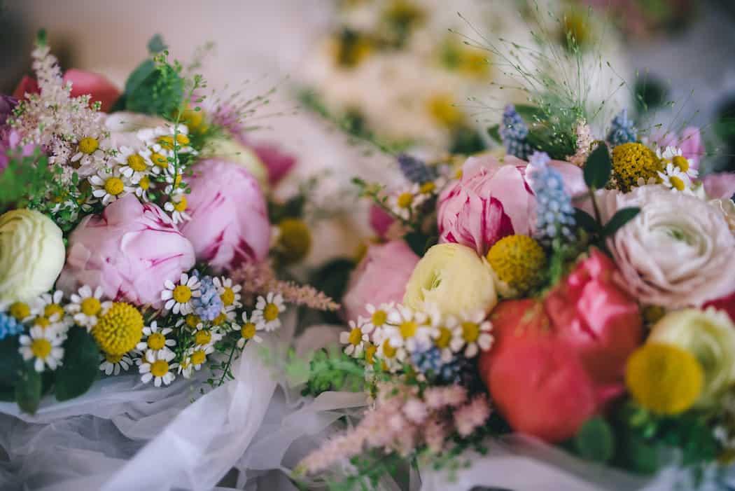 Spring flowers for Bawdon Lodge Farm Tipi Wedding