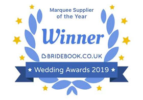 ational Marquee Supplier Of The Year Winner - The 2019 Bridebook Wedding Awards