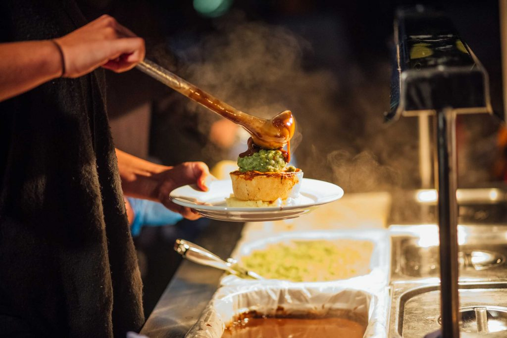Pieminister pie and mash for 21st birthday party
