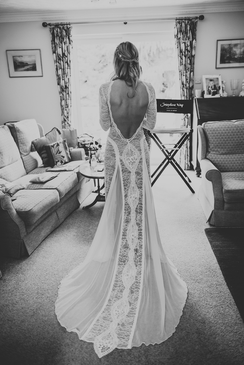 Grace Loves Lace Backless boho wedding dress