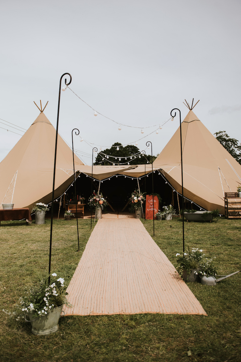 Sami Tipi Wedding at Cuttle Brook Swarkestone. A waterfront Wedding Venue in Derbyshire