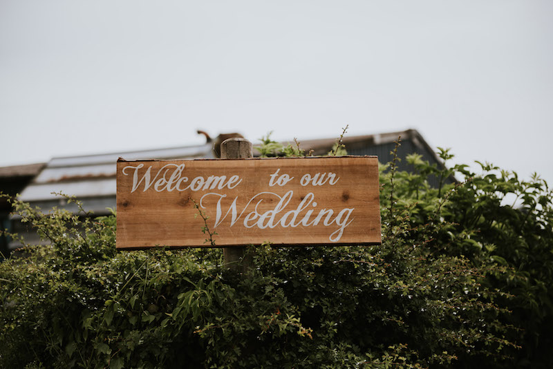 Welcome to our wedding Rustic Wedding Sign