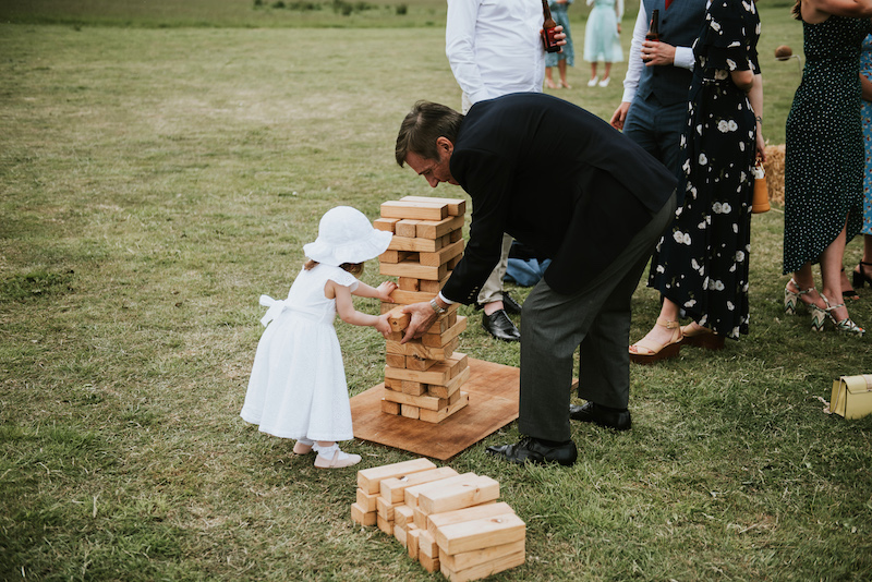 outdoor games keeping children busy at weddings