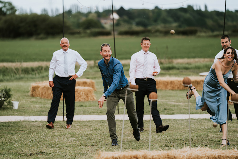 outdoor games keeping adults entertained at Tipi Wedding
