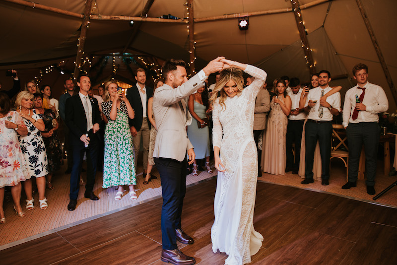 first dance on tipi dance floor