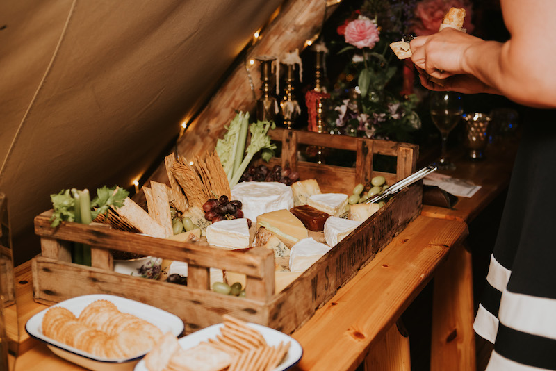 Evening Cheese and Biscuits for wedding reception