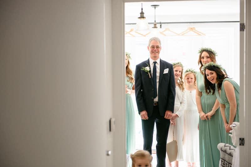 dad & bridesmaid reactions