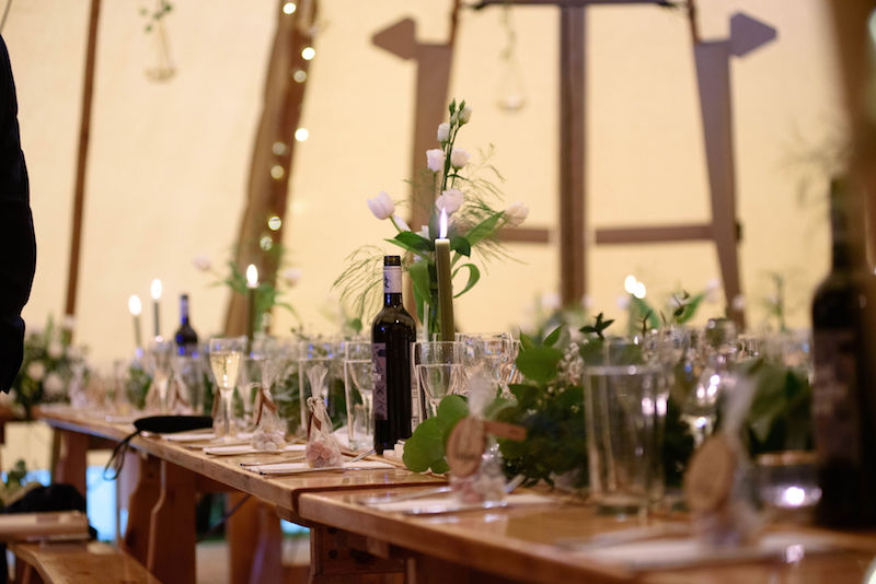 Tipi Table styling details