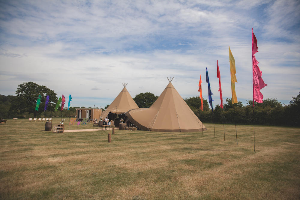 2 giant hat tipis at Mapperley