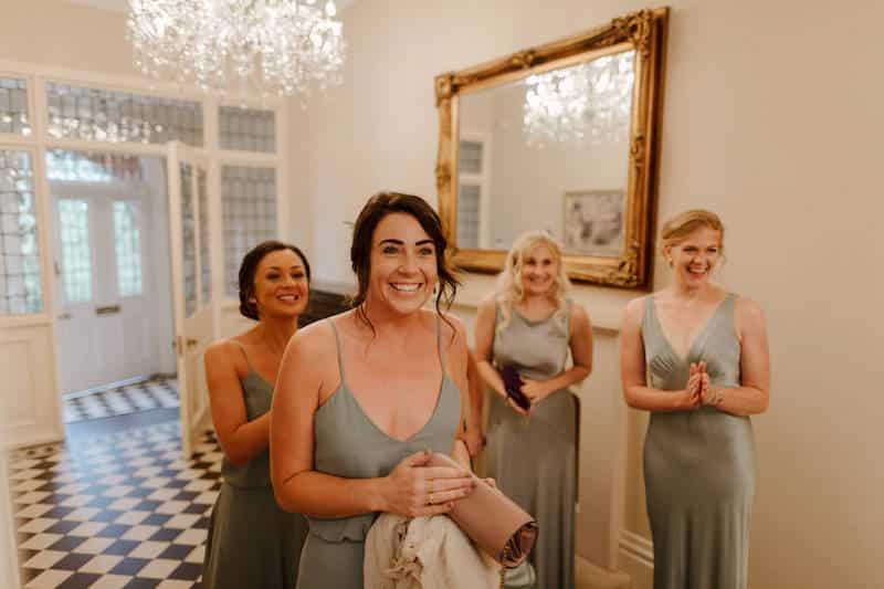 Bridesmaids dress reactions